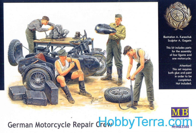 German Motorcycle Repair Crew