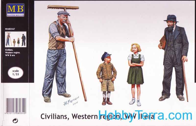 Civilians, Western region, WWII era