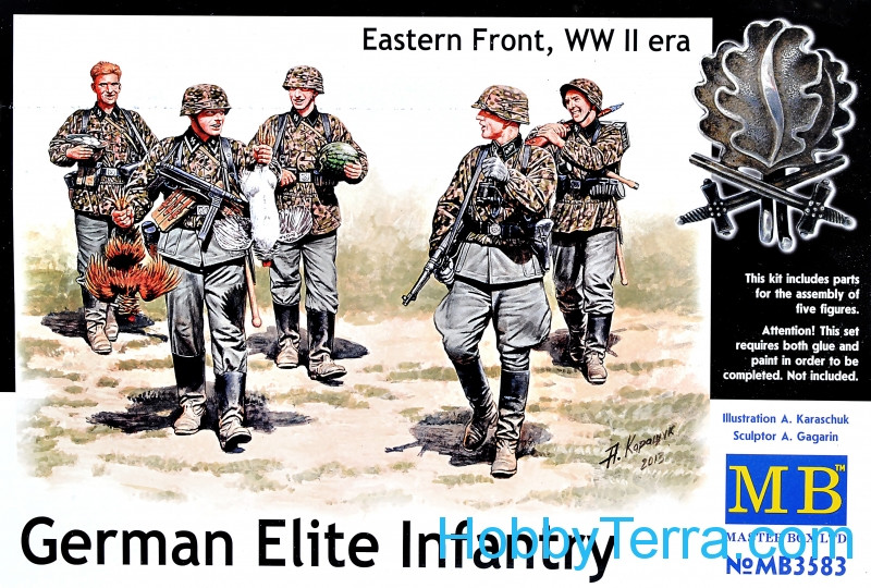 Master Box  3583 German Elite infantry, Eastern Front, WWII