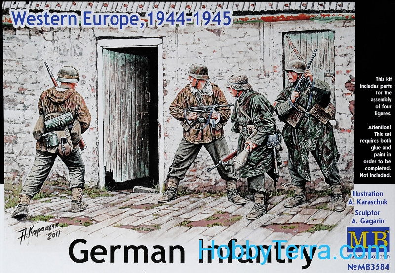 Master Box  German Infantry, Western Europe, 1944-1945