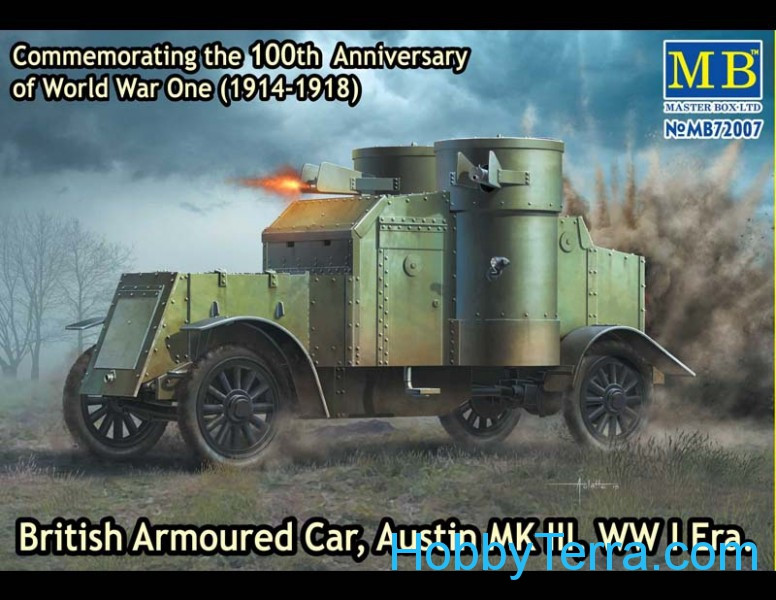 Master Box  72007 Austin Mk.III British armored car, 1914-1918