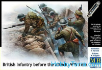 British infantry before attack, WWI era