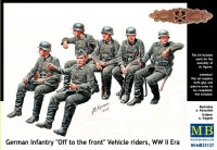 German infantry 'Off to the front' vehicle riders