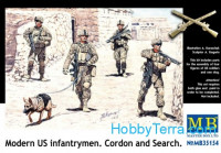 Modern U.S. infantrymen. Cordon and Search