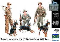 Dogs in service in the US Marine Corps, WW II era