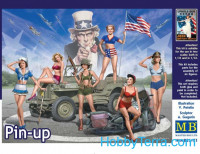 Pin-up. WWII U.S. Girls