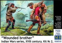 Wounded brother. Indian Wars series, XVIII century. Set No. 2
