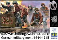 German military men, 1944-1945. The machine gun is There!