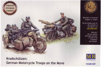 Kradschutzen: German motorcycle troops on the move