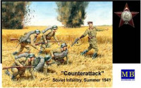 """Counterattack"". Soviet infantry, Summer 1941"