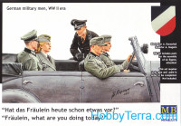 Baby, what are you doing today? German military men, WW II era