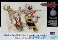 Hand-to-hand fight, British and German infantry. North Africa. Kit 1