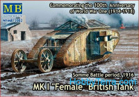 "Mk I ""Female"" British tank, Somme battle, 1916"