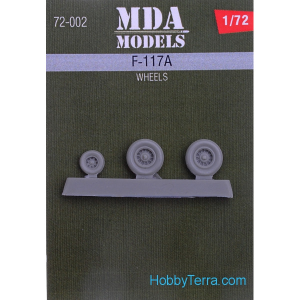 Wheels set 1/72 for F-117A attack aircraft
