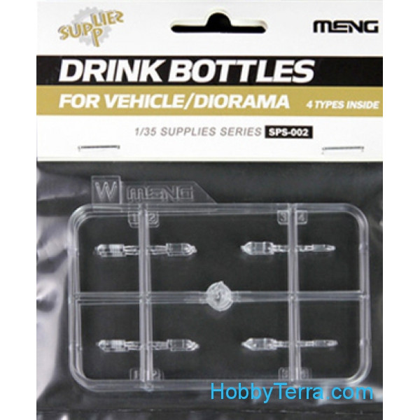 Set of PET bottles for dioramas (4 types)