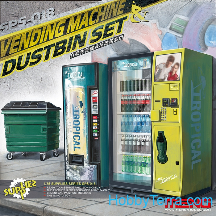 Vending Machine & Dustbin Set