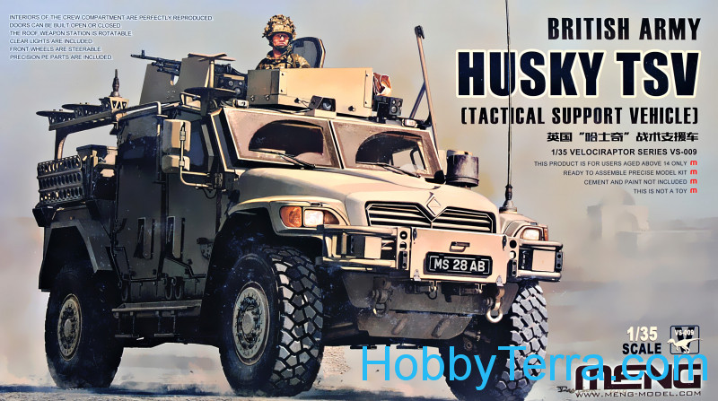 Meng  VS009 British Army Husky TSV (Tactical support vehicle)
