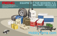 Accessories for modern art USA (boxes, cans, tires, weapons)
