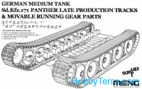 German medium tank Sd.Kfz.171 Panther (late) tracks & Movable running gear parts