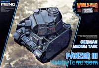 German medium tank Panzer III (World War Toons series)