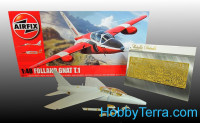 Photo-etched set Folland Gnat T.1, for Airfix kit