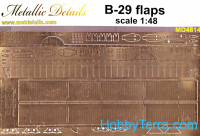 Photo-etched set 1/48 B-29 Superfortess flaps
