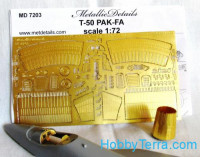 Photo-etched set 1/72 Sukhoi T-50 fighter, for Zvezda kit