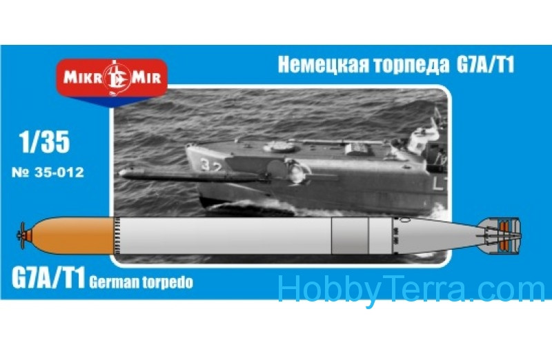 German torpedo G7A/T1 Model 1/35 Scale Kit Micro-Mir 35 ...