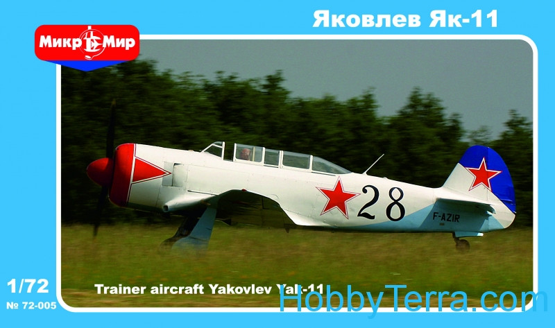 Micro-Mir  72-005 Yak-11 Soviet training aircraft