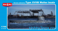 German submarine type XVIIB Walter boats