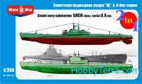 Soviet submarines 'Shch' class, series X, X-bis (2 kits in the box)