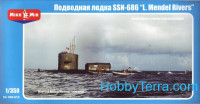 "U.S. nuclear-powered submarine SSN-686 ""Mendel Rivers"""