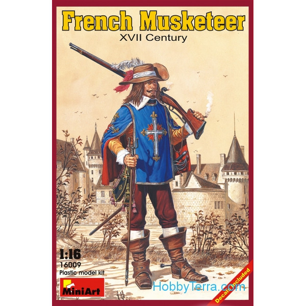 Miniart  16009 French musketeer, XVII century
