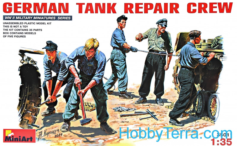 Miniart  35011 German tank repair crew