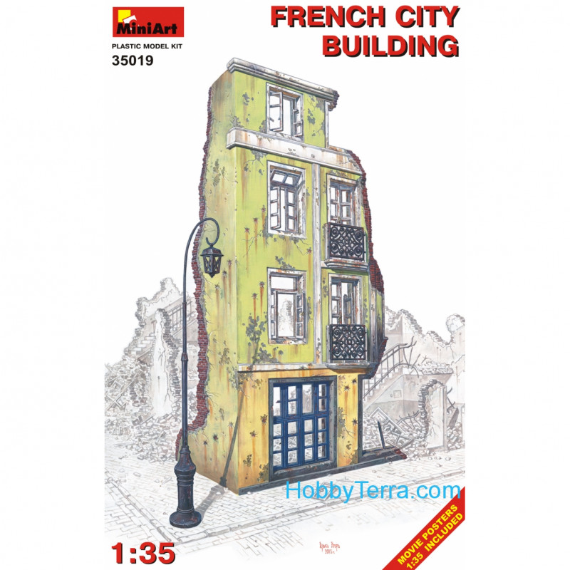 Miniart  35019 French city building