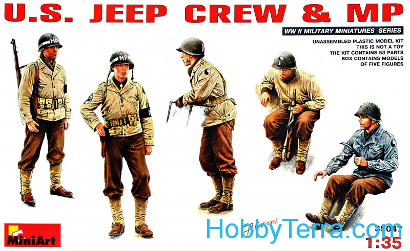 Miniart  35047 U.S. Jeep crew & MP