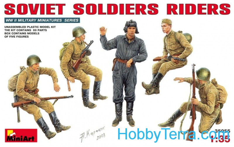 Miniart  35055 Soviet soldiers riders