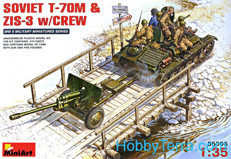 Miniart  35056 Soviet T-70M & ZiS-3 with crew