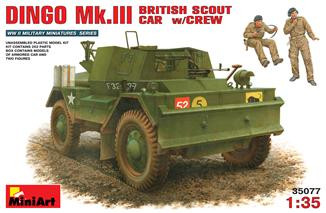 Miniart  35077 British scout car DINGO Mk.3 with crew