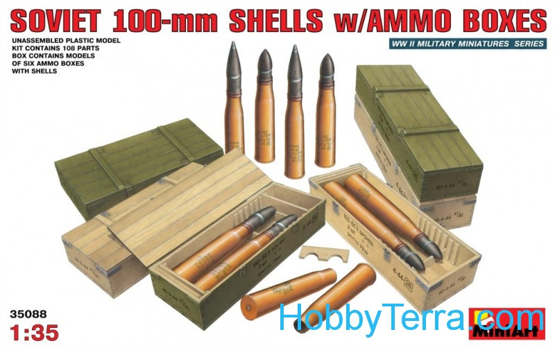 Miniart  35088 Soviet 100-mm shells with ammo boxes