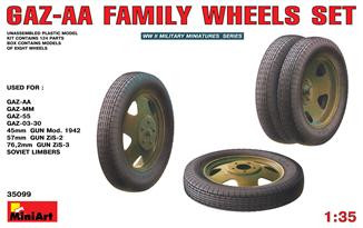 Miniart  35099 Set of wheels for the family of GAZ-AA