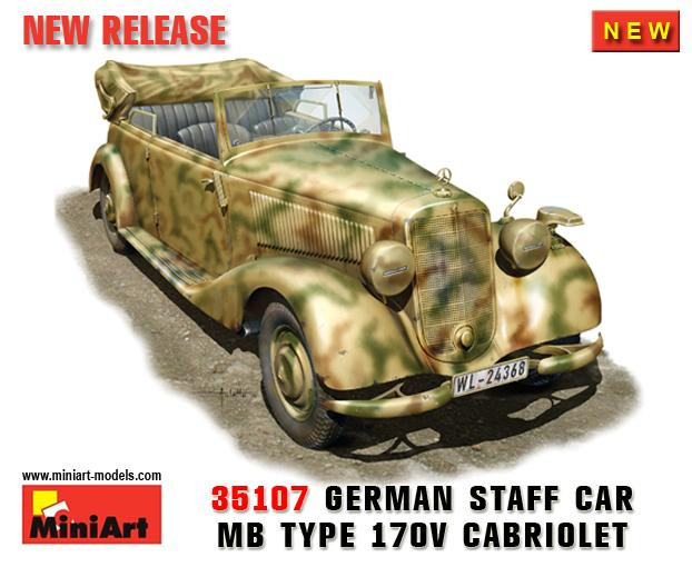 Miniart  35107 STAFF CAR 170V. CABRIO