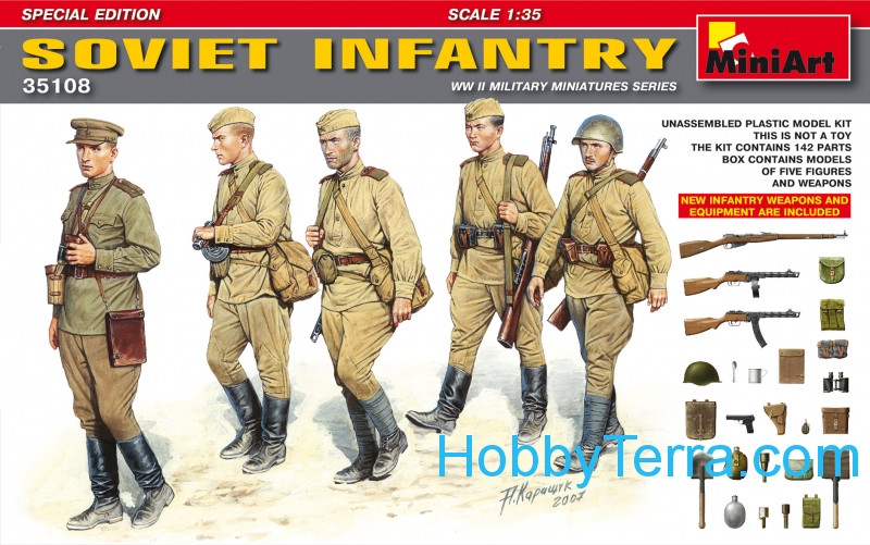 Miniart  35108 Soviet infantry. Special edition
