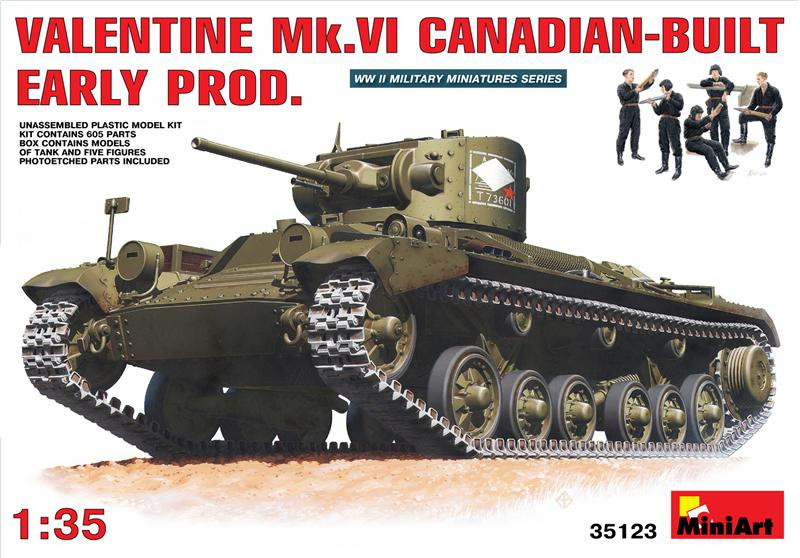 Miniart  35123 Valentine Mk.VI  Canadian – built Early Prod.