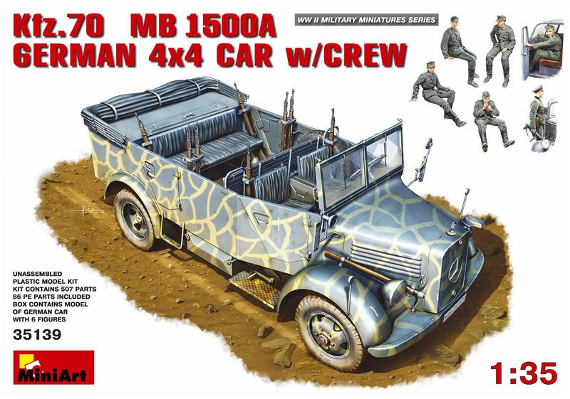 Kfz.70 (MB 1500A) German 4x4 car with crew