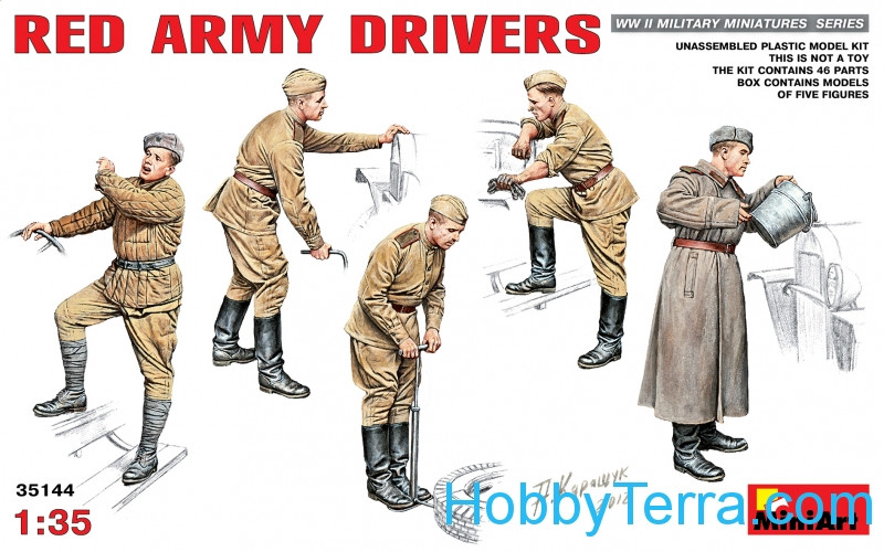 Miniart  35144 WWII Red Army drivers