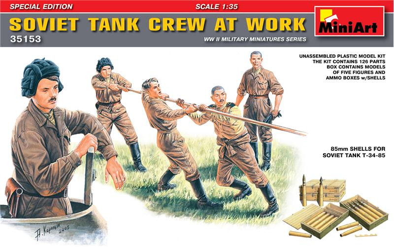 Soviet tank crew at work. Special Edition