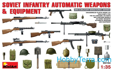 Miniart  35154 Soviet infantry automatic weapons & equipment