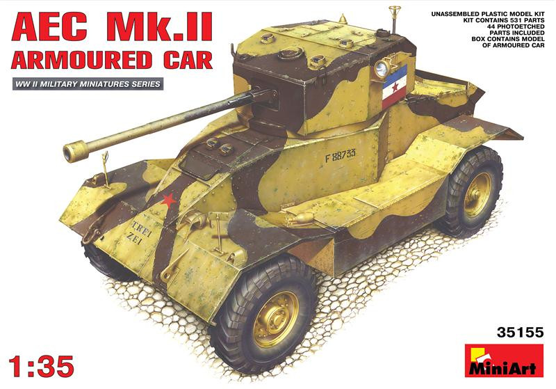Miniart  35155 AEC Mk.II armoured car