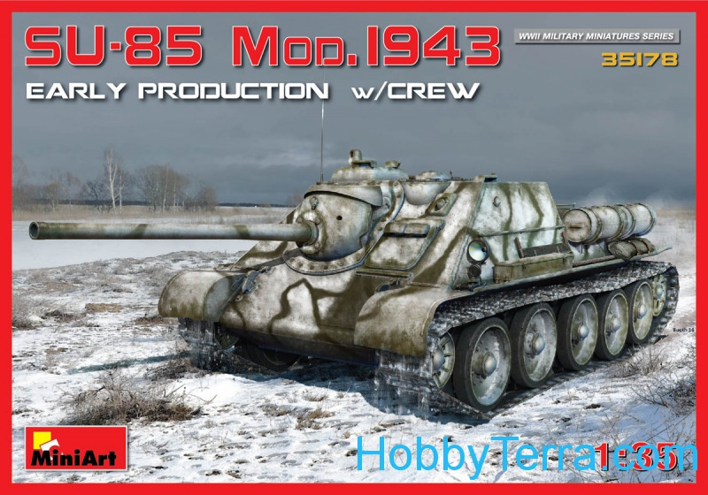 SU-85 model 1943 with crew, early production